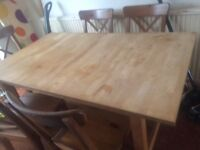 Large ikea table and chairs
