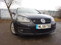58 VOLKSWAGEN GOLF GT SPORT (140)TDI DIESEL 2.0 AUTOMATIC,MOT JAN 019,2 OWNERS,2 KEYS,PART HISTORY