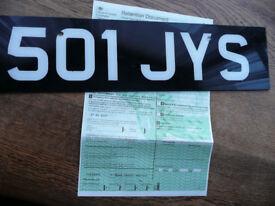 REGISTRATION NUMBER 501 JYS