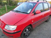 hyundai matrix parts from 2 cars one 1.5 diesel and one 1.8 petrol both red