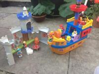 Mega Blocks Pirate Ship & Castle