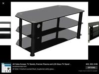 Black glass tv cabinet
