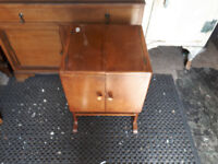 VINTAGE RETRO KITSCH 1950S SEWING TABLE / CABINET IN YEOVIL