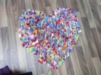 Small heart rug, multi coloured, great condition!