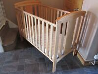 Cot with new mattress