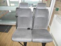 Double passenger seat for van or minibus