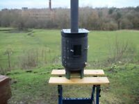 Gas Bottle Woodburner with Viewing Window