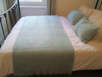 GORGEOUS MOHAIR THROW/MATCHING CUSHIONS - FROM LINEA (FRASERS)