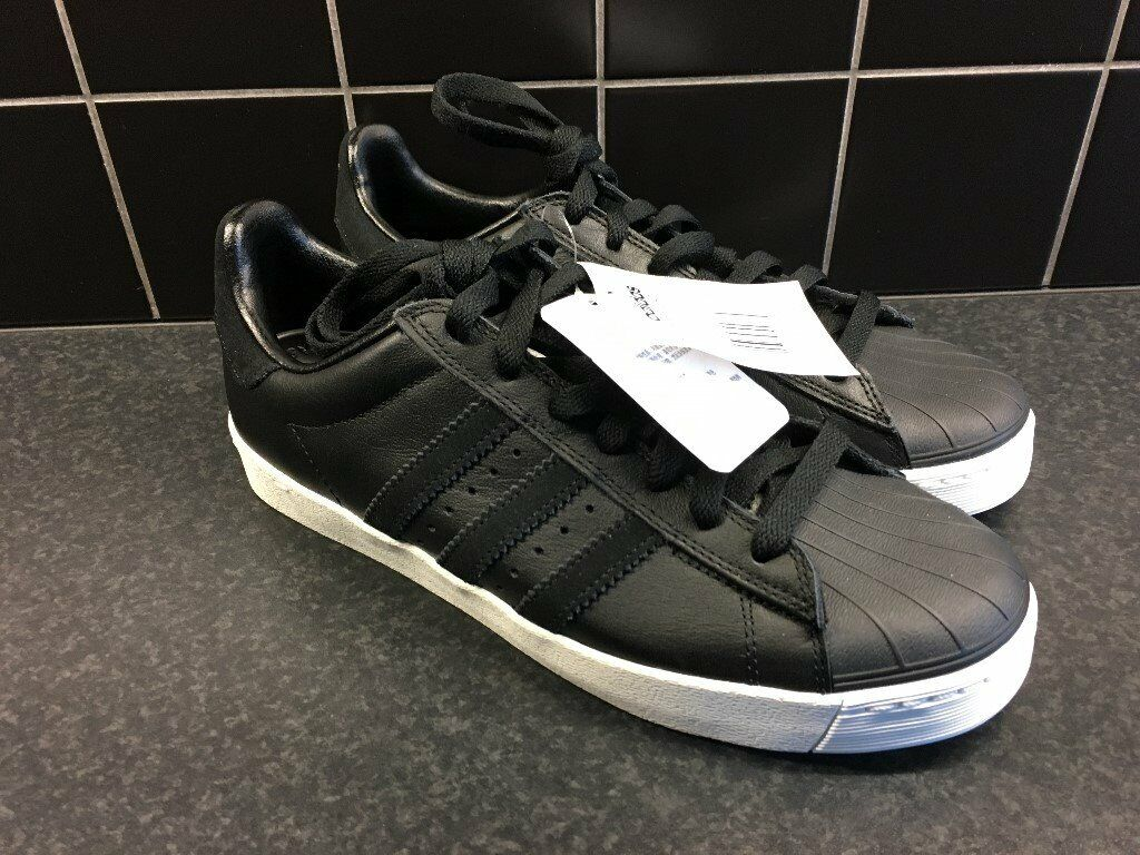 info for d0657 dc6ec Adidas Superstar VULC ADV Black White. Brand New with Tags. Size UK6.