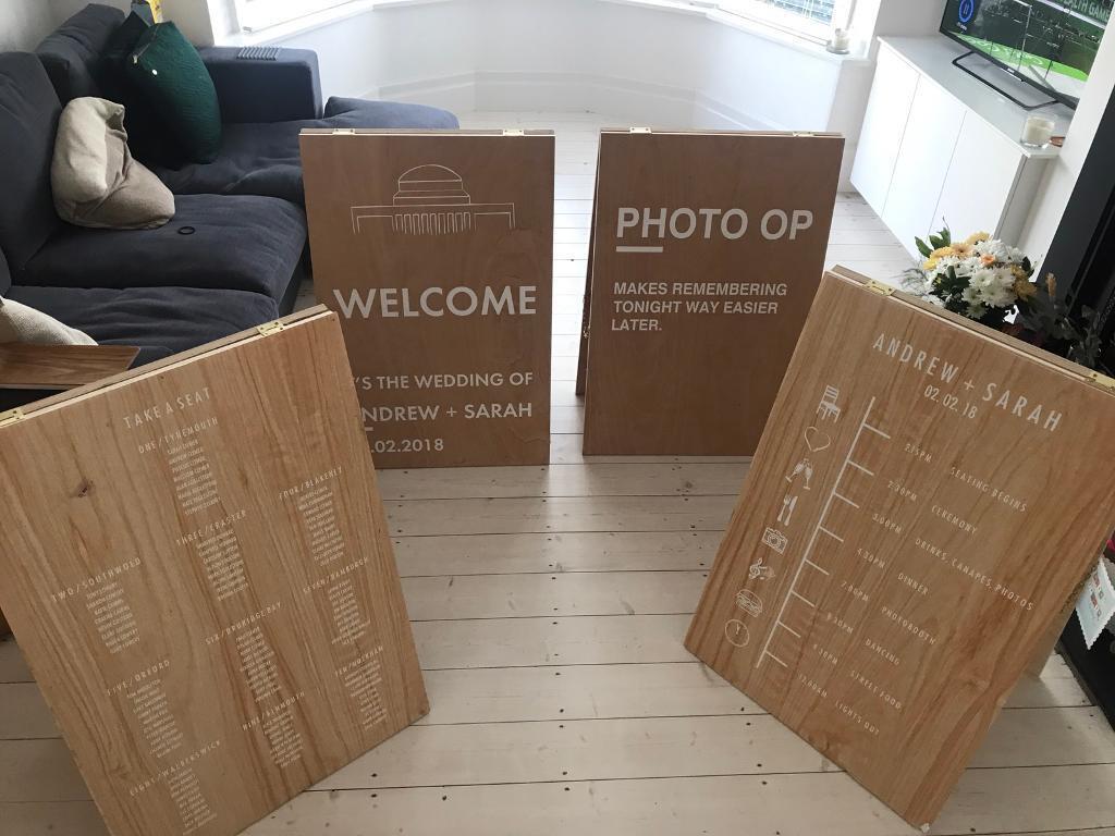 Blank Weddingadvertising Sandwich Wooden Boards In Whitley Bay Tyne And Wear Gumtree