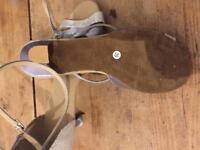 Ladies silver party sandals