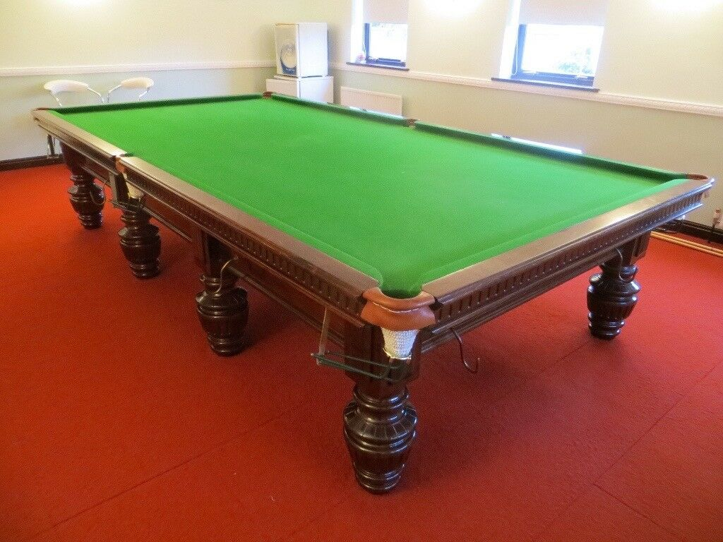 Excellent Full Size Snooker Table with Free Professional Delivery and Installation and New Cloth