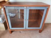 Glass and wood effect display cabinet/sideboard