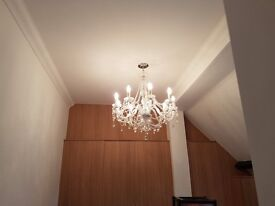 Crystal 9 arm Chandelier