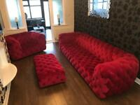 DFS, eye catching stylish 3 piece sofa. Sofa is a 4 seater.