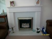 beautiful fire surround/ hearth complete with gas fire