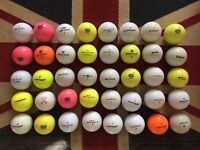40x Pinnacle, Top Flight etc Golf Balls Job Lot