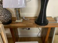 hardwood console table