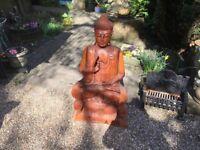Solid Hard Wood Buddha