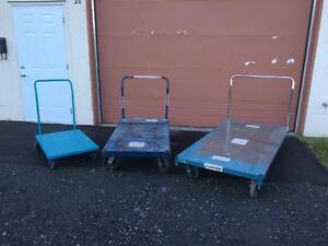 Chariots d'entrepôt, chariot plat dimensions variées -- Warehouse cart various size