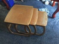 Set of 3 Nesta Tables Good Condition