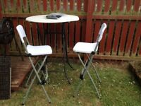 Garden Table and chairs (RRP £100)
