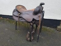 Used western saddle for sale approx 17in from horn to cantle