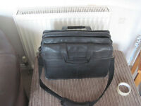 Heavy Duty Leather Dell Laptop Carrying Bag (Black)