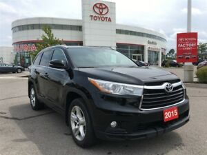 2015 Toyota Highlander Limited - Toyota Certified, New Front Bra