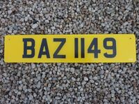 Number Plate BAZ 1149