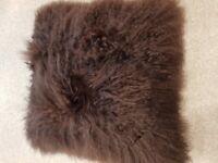 Sheepskin cushions i have 2 large grey beutiful new.