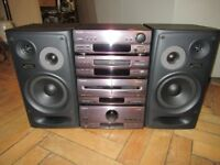 Technics SA-CH750 HiFi Amplifier Stereo Speakers Audio System