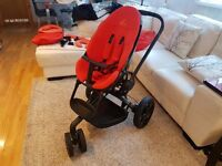 Quinny Moodd Red Rumour Travel System Single Seat Stroller