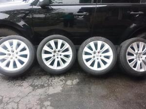 HONDA ACCORD 18 INCH FACTORY WHEELS WITH PERFORMANCE CONTINENTAL 235/45/18 ALL SEASON TIRES.