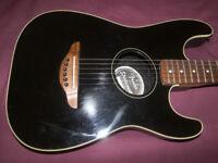 Fender Stratacoustic Electro Acoustic Guitar / Black