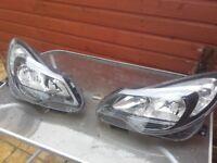 Headlight Nearside Passenger/Left Side Vauxhall Corsa D Facelift (2007-14)