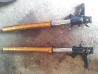 Pair Front Upside Down Forks - Collection only