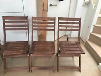 Three IKEA garden chairs