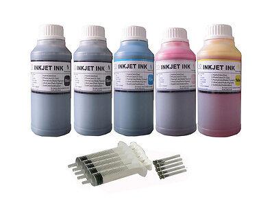 (5x250ml refill ink for Epson 664 T664  EcoTank ET-2500 ET-2550 ET-2600 ET-2650 )