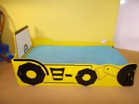 Delightful Toddler Car Bed Yellow Digger Bed Kids Bed Boys Bed With Matress Ready in 15 min