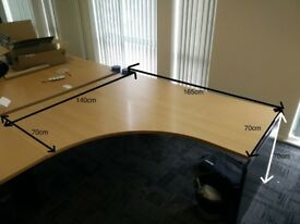 2 Large Office Desks (Free / £0) Collection only.