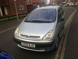 2002 Citroen xsara Picasso 1.6 Petrol 11 months mot and good condition offers welcomed ONO