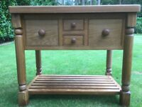 Solid Oak Country Kitchen Island with granite top