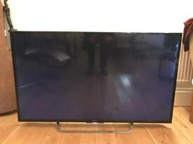 Sony Bravia 55 inch 4K TV cracked screen with remote