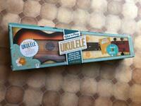 Boxed Ukulele includes music booklet and audio cd