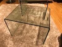 Glass coffee tables x2