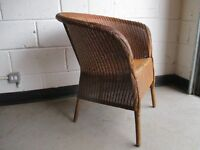 VINTAGE LLOYD LOOM LUSTY CHAIR WITH MAKERS MARKS FREE DELIVERY