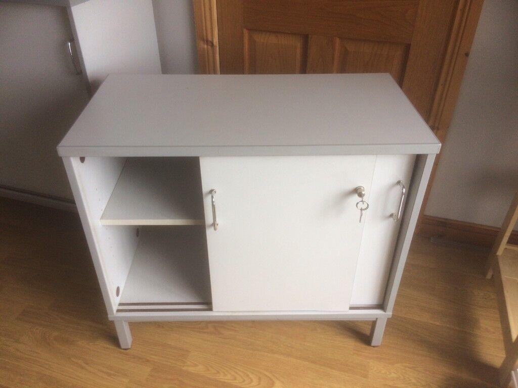 Set Of Lockable Office Cupboards