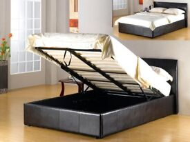 ISTANBUL DOUBLE LEATHER Ottoman Bed Storage BED 5FT King Size with 25cm Memory Foam Mattress