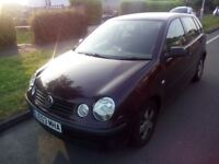VW POLO 1.4L 2003. GOOD RUNNER LITTLE TLC REQUIRED TO EXHAUST JOINT. SPARES OR REPAIR